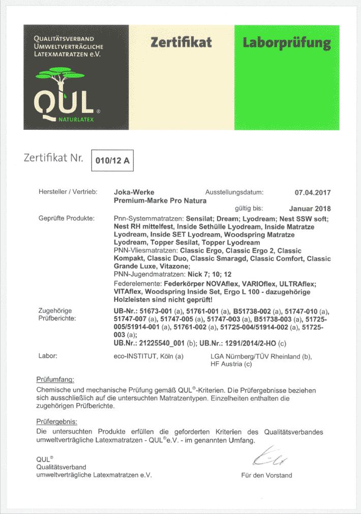 QUL-Zertifikat